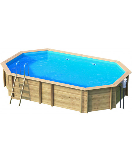 Holzpool Premium günstig bei Clickpools24 , 6x4 Oval Achteck Lang