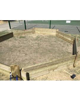 Holzpool Aufbau Holzwand Achteck günstig kaufen bei Clickpools24