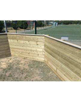 Holzpool Folie einhängen
