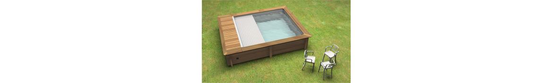 Holzpools Rechteck  Rechteckbecken Quadratbecken Pools für wenig Platz